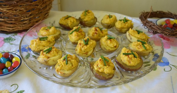 deviled baby potatoes