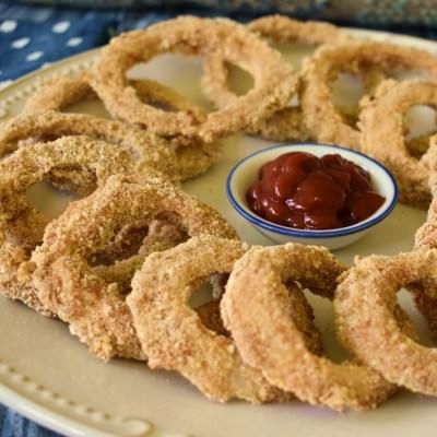 vegan baked onion rings