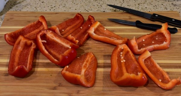 roasting bell peppers