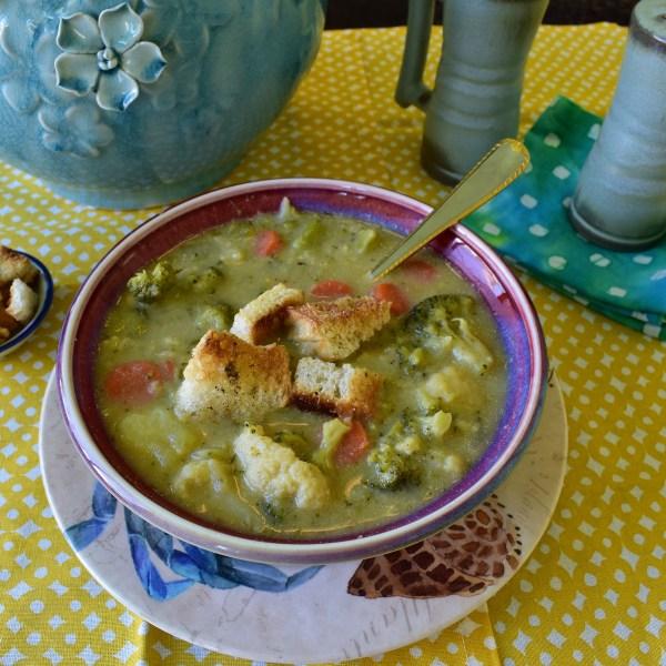 broccoli cauliflower cheeze soup
