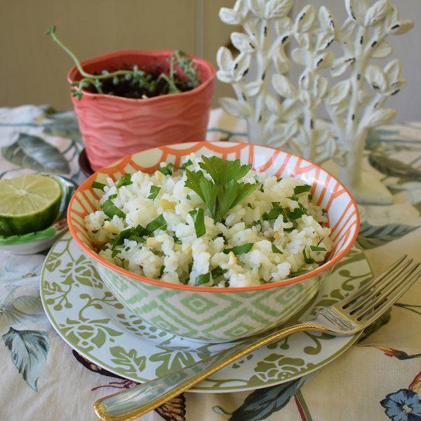 garlic cilantro lime rice