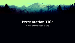 Forest Mountain Keynote Template