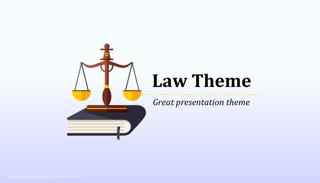 Law Order Keynote Template