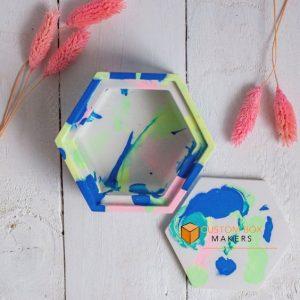 hexagon 2 pc boxes