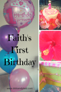 Happy First Birthday Faith