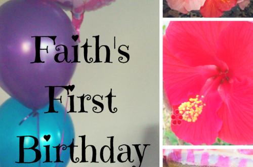 Happy First Birthday Faith