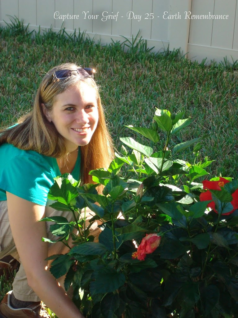 Sara with Faith's Flower