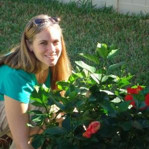 Sara with Faith's Flower