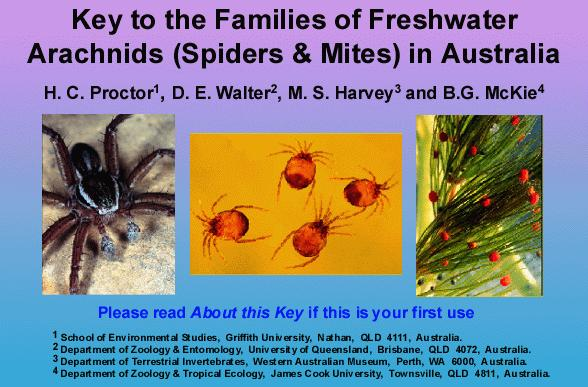 Freshwater Arachnids Spiders and Mites home screen