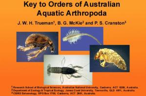 Orders of Australian Aquatic Arthropoda home screen