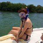 girl mask and snorkel