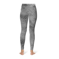 Mermaid Scale Leggings - Black