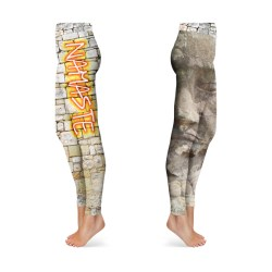 Namaste Stone Graffiti Leggings