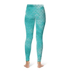 Mermaid Scale Leggings - Turquoise
