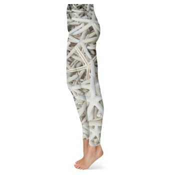 White Starfish Leggings