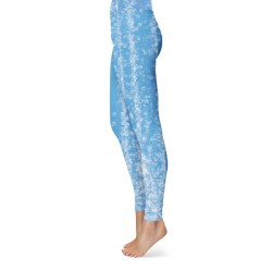 Bubbles on Azure Blue Leggings
