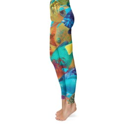 parrot fish camo leggings
