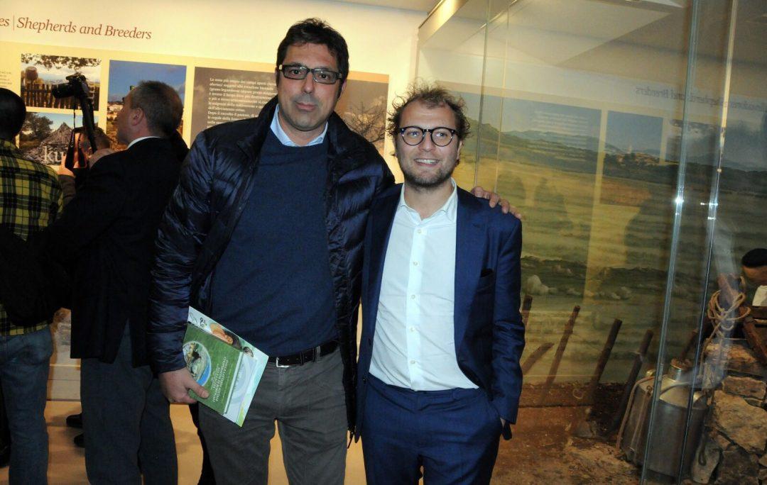 Totoni Sanna con Luca Lotti, monistro per lo sport del governo Gentiloni