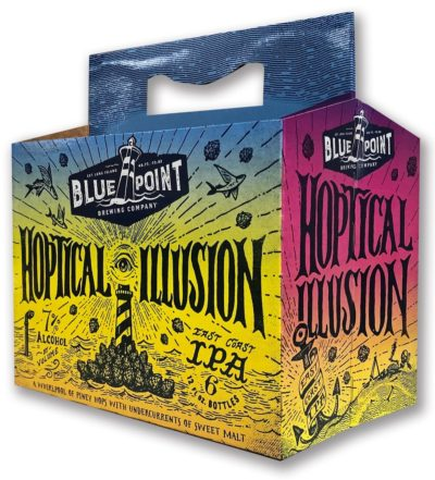 Hoptical Illusion beverage packaging