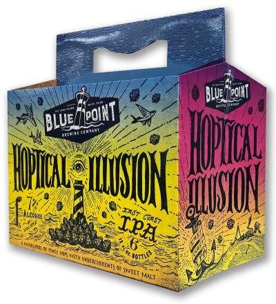 Hoptical Illusion beverage packaging
