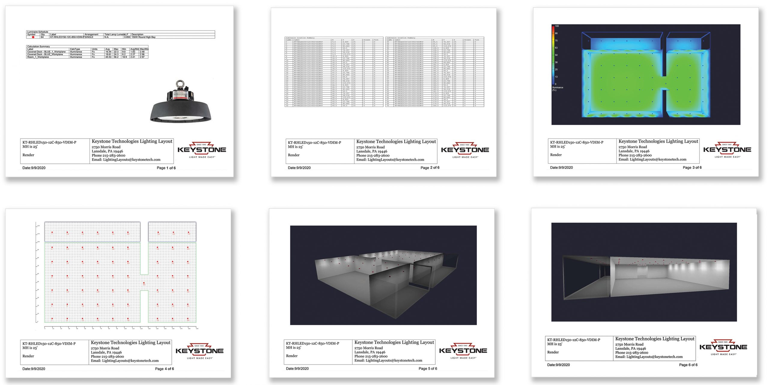 lighting layout keystone technologies