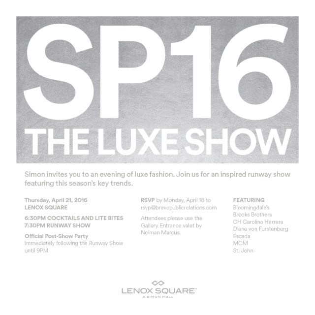 Are You In For The Luxe Show At Lenox?