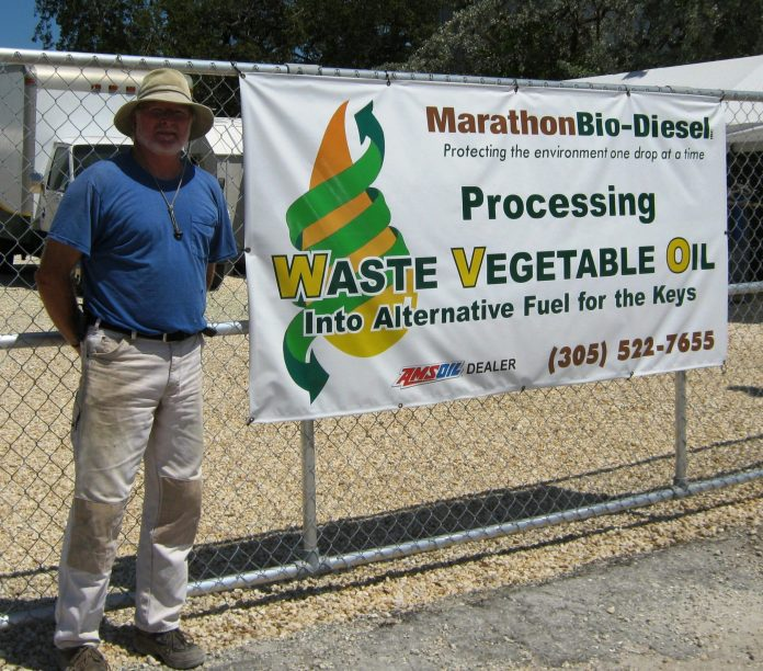 A man holding a sign - Banner