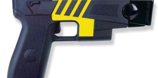 A close up of a gun - Electroshock weapon