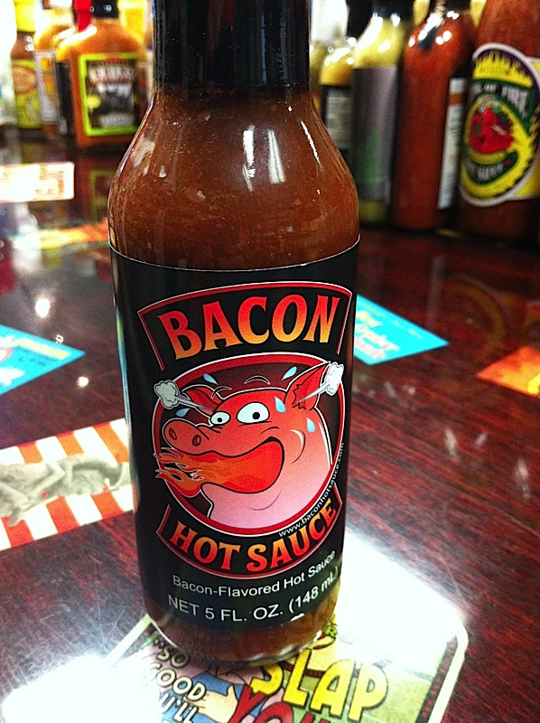Bacon Hot Sauce. The bacon hot sauce at Peppers of Key West.