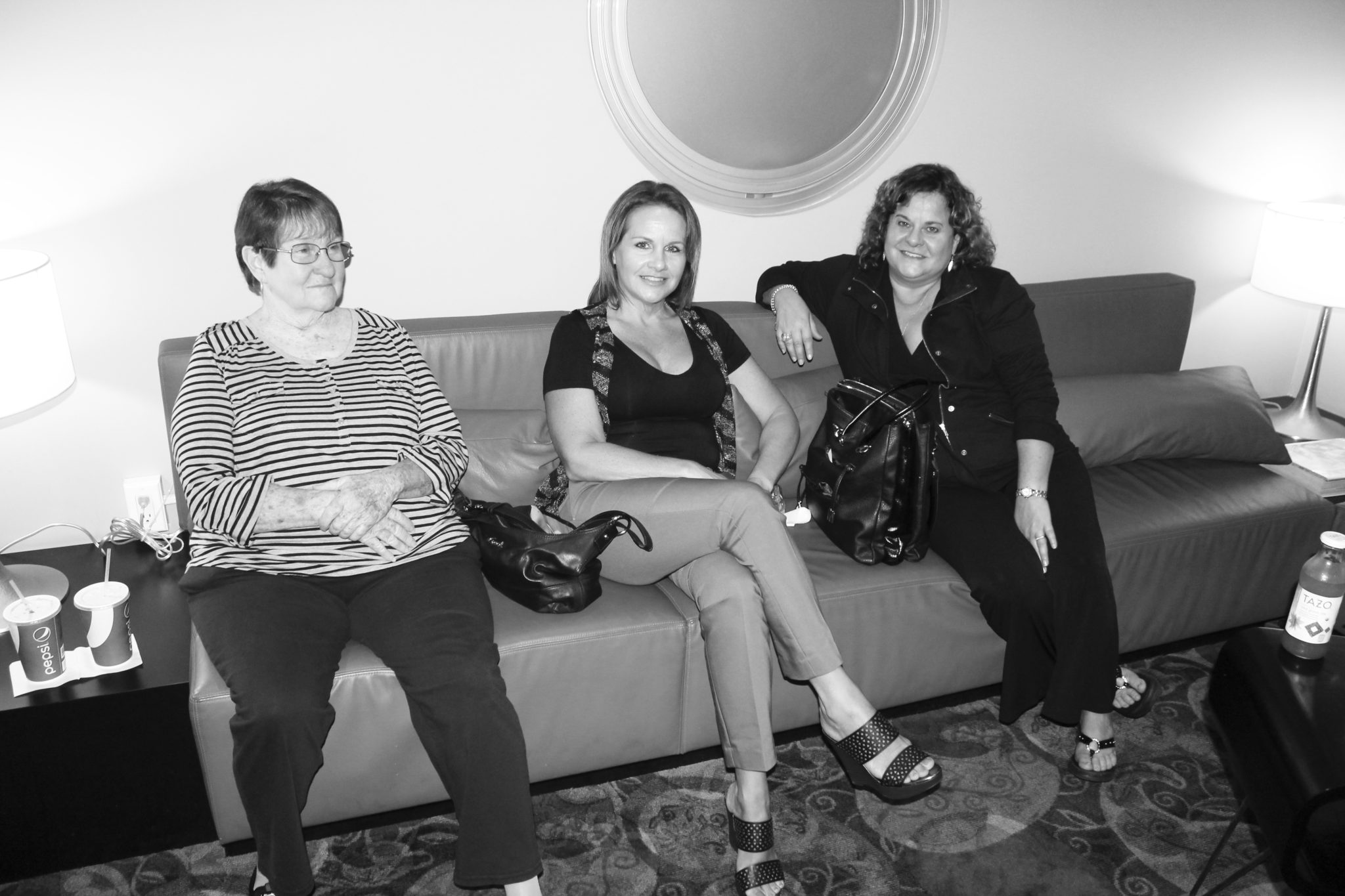 Sandra Wolcott, Andrea Marchan and Dawn Plowman wait for the show to start.