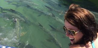 #DayTripping: Robbie's Marina & Hungry Tarpon - A woman wearing sunglasses posing for the camera - Robbie's