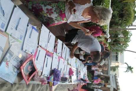 Numerous volunteers signed up for the Zonta Club's ABC Walk/Run for awareness of breast cancer set for Saturday, Nov. 1.