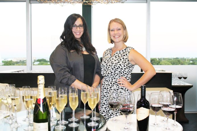 . Shaye Zakotnik and Jennifer Doughtery presented a lavish greeting for guests as they entered the spa. Incredible hors d'oeuvres, champagne and wine were served throughout the evening.