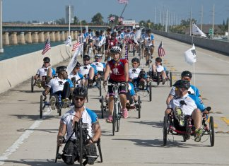 #Events: Soldier Ride set for Jan. 9-11 - A group of people riding on the back of a bicycle - Road Bike