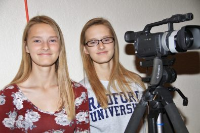 Videographers Abby and Annie Gracy were ready to catch all of the action when the show started.