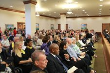 The Freeman Justice Center was standing room only for the investiture of Judge Bonnie Helms.