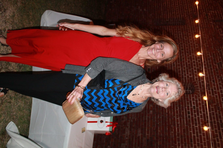 11. Montessori Director Amy O'Connor keeps company with former Montessori teacher, Rita Bell.