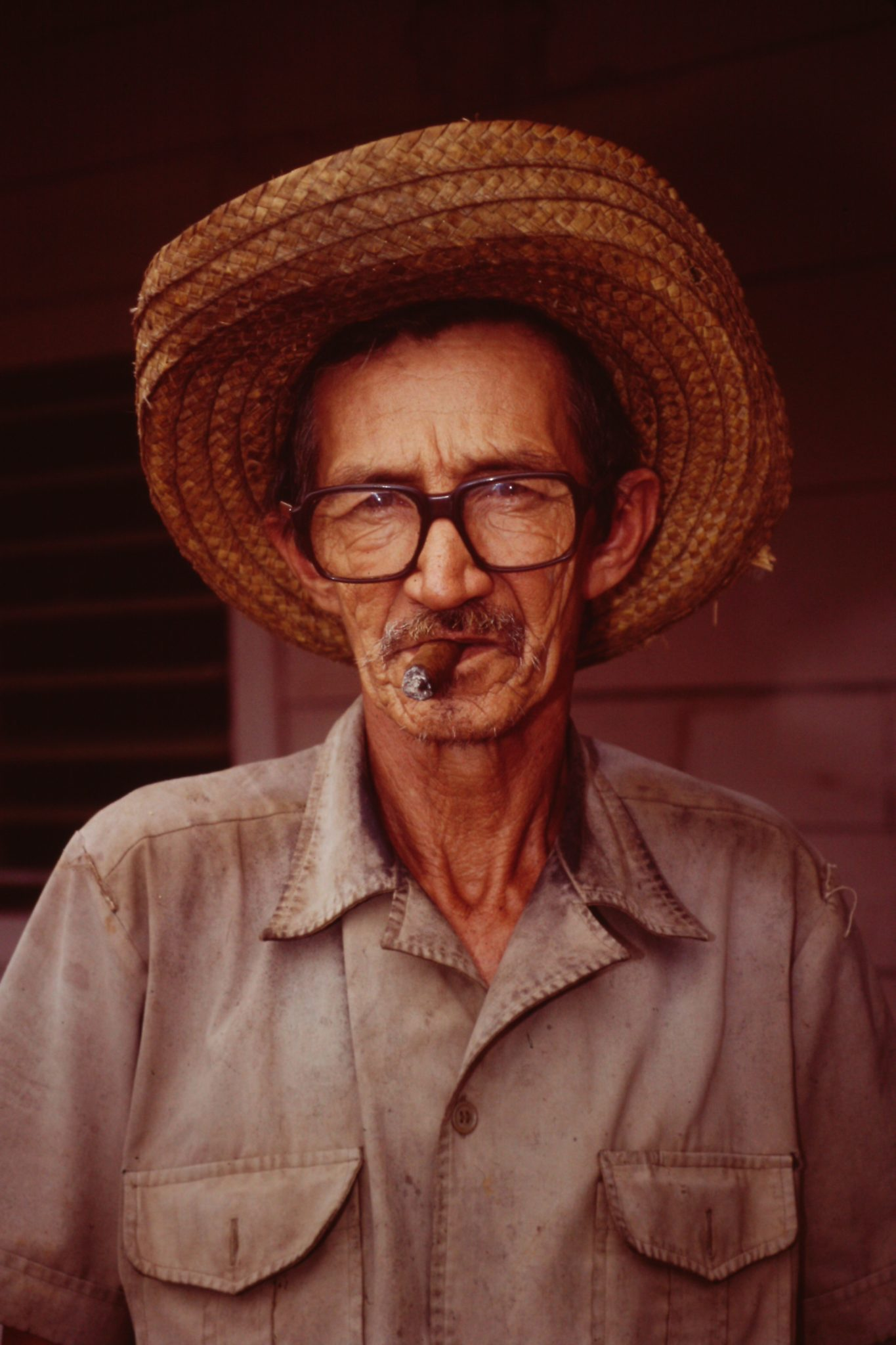 A photo of Miguel Toledo Rodriguez in 1996 captures the essence of a hardworking Cuban farmer.