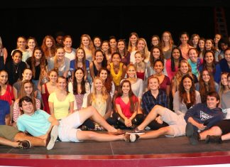 KWHS Fashion Club presents 8th annual show - A group of people posing for a photo - Dance