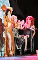 Queen Mother 25 Sushi sings with La Te Da's Christopher Peterson and Randy Roberts.
