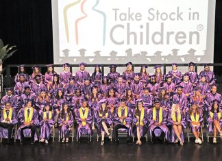 Take Stock students graduate – 50 earn full scholarships - A group of people posing for the camera - Take Stock in Children
