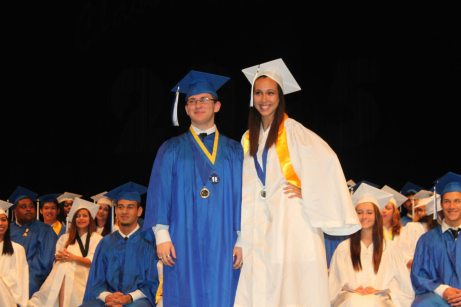 Grads receive awards – Scholarships further seniors' education goals - A group of people posing for the camera - Ron Clark