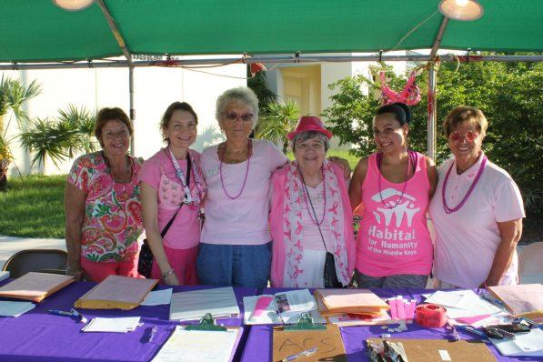 The organizers with the mostest — Barbara Padget, Joy Wilson, Carol Stiglitz, Rose Diezel, Sherry Alana and Toni Appell.
