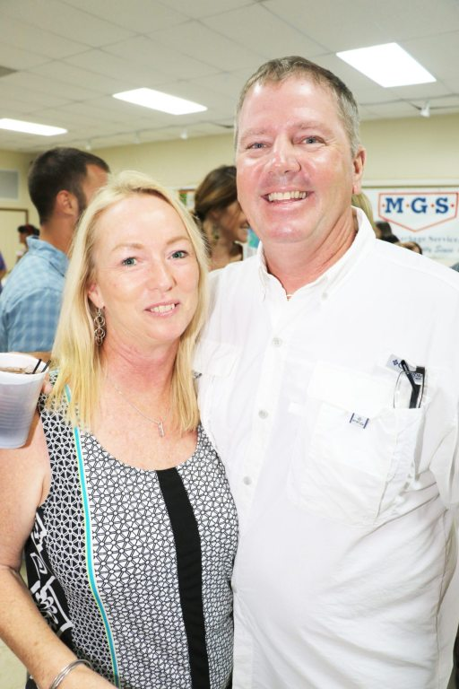 Peggy Taylor of Sunset Grille poses with her husband, Kevin Taylor. The eatery took home the award for best place to watch the sunset.