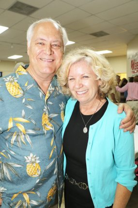 Attorney Tom Wright and his wife, Barbara, were on hand to celebrate with the crowd.