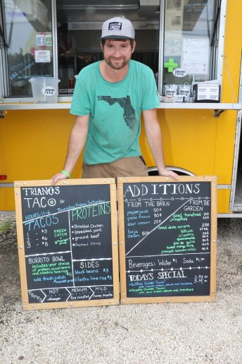 Clint Steckly, owner of Triano's Taco Company is the founder of an upcoming food truck festival benefiting local non-profits. His company, Trianos, is named after a friend who passed away. 'We always said we would own a restaurant together, so this is my way of doing that,' he said.