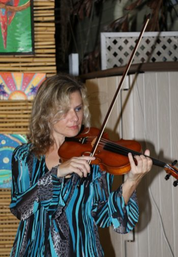 Pavla Hruban plays the violin for the first hour.