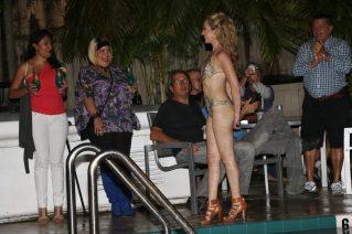 Model Katie Sottak walks the runway.