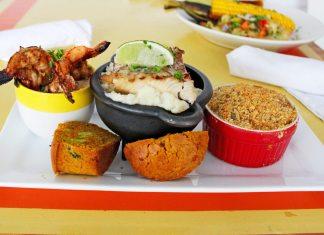 Cincinnati meets Key West, falls In love - A plate of food on a table - Vegetarian cuisine