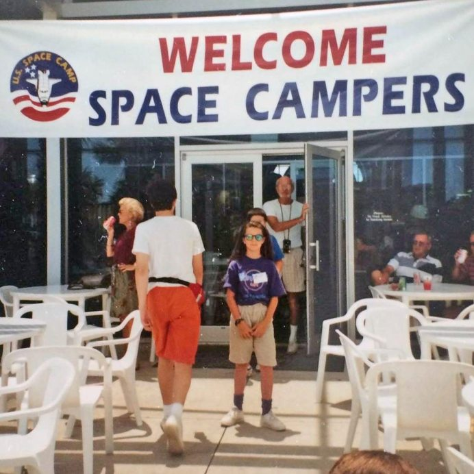 """Growing up in Orlando and spending many-a-days watching shuttle launches, Dr. Katie Pridemore spent a summer at Space Camp, which she put as job related training on her NASA application. """"I hope they like a sense of humor,"""" she said."""